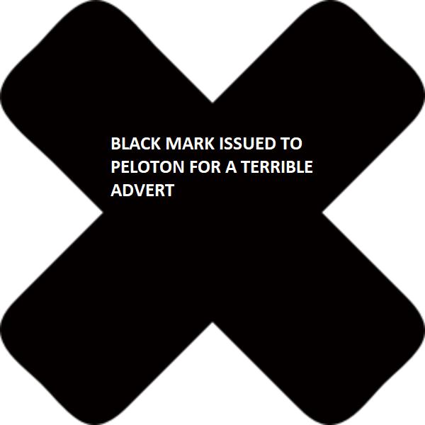 black mark PELOTON
