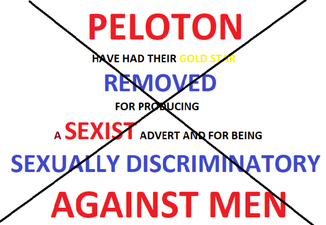 Peloton gold star REMOVED
